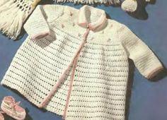 Baby Girl Sweater Crochet Pattern