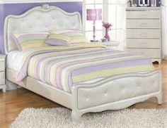 Zarollina Youth Silver Wood Full Panel Bed