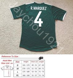 68131f906 Soccer-National Teams 2891  Nwt Rafael Marquez Mexico National Soccer Team  Green Jersey -