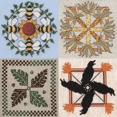 CHARTS for counted cross stitch or needlepoint by CTHdesign - Litha, Lammas, Mabon and Samhain