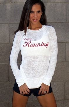 I Enjoy Running Super Fab Burnout Raglan by FiredaughterClothing, $33.00