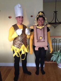 Lumiere and clocksworth cosplay