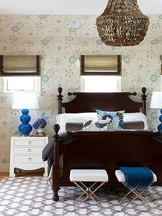 Black and Blue Bedroom  #home #decor  #bedroom #black #blue    bhg.com Better Homes and Garden