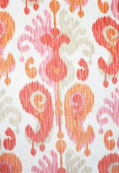 Journey, Fruity $23.95/yd linen/rayon Pink & Orange!