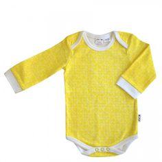 Yellow Geo Baby Bodysuit
