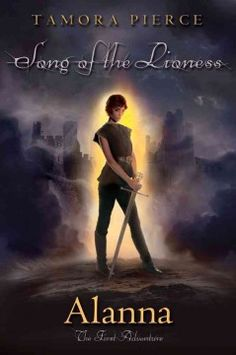 Book 1: Eleven-year-old Alanna, who aspires to be a knight even though she is a girl, disguises herself as a boy to become a royal page, learning many hard lessons along her path to high adventure.