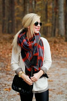 Plaid scarf perfection.