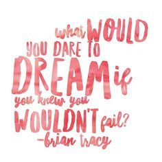 "Love this quote and used to love listening to Brian Tracy. . . ""What would you dare to do if you knew you wouldn't fail?"" . . What a powerful question What was the 1st answer that popped into your head? . . #dream #dare #what #briantracy"