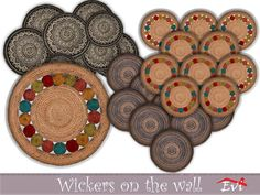 Wicker decorations for this summer.BASE GAME Found in TSR Category 'Sims 4 Painting and Poster Recolors' The Ea, Game Creator, Sims Community, Sims Resource, Electronic Art, Sims 4, Wicker, Paintings, Wall