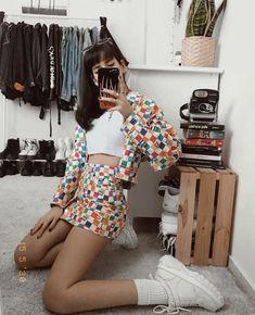 Women's Streetwear Fashion & Clothing – Minga London Funky Outfits, Boho Outfits, Vintage Outfits, Cute Outfits, Vintage Fashion, Summer Outfits, Fashion Outfits, Cropped Denim Jacket Outfit, London Outfit