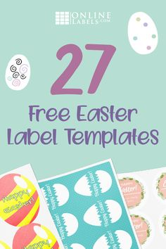 Celebrate the Easter holiday with friends and family, and these egg-cellent free printable label templates. Decorate your table, entertain the kids, and more. Hoppy Easter, Easter Eggs, Easter Lunch, Easter Printables, Free Printables, Free Label Templates, Easter Templates, Diy Christmas Activities, Easter Crafts For Adults