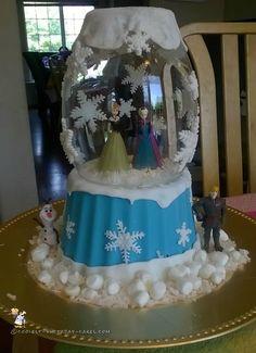 Coolest Frozen Snow Globe Cake... Coolest Birthday Cake Ideas