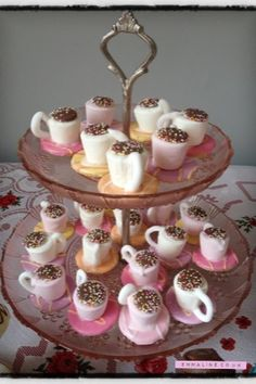 Tea Cups for a Mad Hatters Tea Party by Amy Brown.