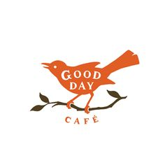 adorable two color logo for Good Day Café by Designer Ken Sakurai via Type Theory
