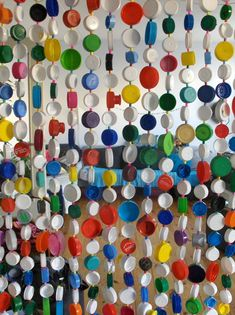 Made out of caps of bottles, milk cans etc.. what a great idea! Save the caps