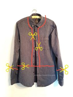 schnell genähter Blouson (upcycling) This blouson is really sewn and a great upcycling project. Trash To Couture, Diy Upcycled Art, Upcycled Furniture, Furniture Ideas, Umgestaltete Shirts, Diy Clothes, Clothes Refashion, Diy Fashion, Sustainable Fashion