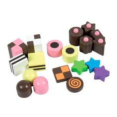 snoep en chocola van hout