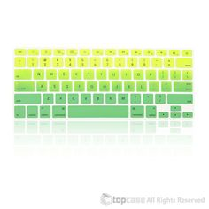 """TopCase Faded Ombre Series Green Silicone Keyboard Cover Skin for Macbook 13"""" Unibody / Macbook Pro 13"""" 15"""" 17"""" with or without Retina Display / New Macbook Air 13"""" / Wireless Keyboard"""