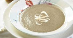 Serve this tasty mushroom soup with a drizzle of cream and a sprinkle of nutmeg to create a gourmet starter.