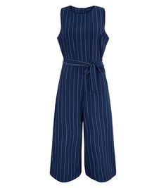 Mela Navy Pinstripe Jumpsuit | New Look