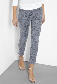 Heaven Mini Floral Mid Rise Cropped Skinny by J Brand Denim