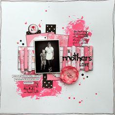 hemma hos ulrika: Head Over Heels - rosa till ett svartvitt kort