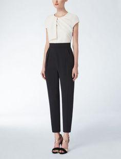 Tuta bicolor Max Mara - Tuta con top bianco e pantalone nero della collezione cerimonia Max Mara primavera/estate 2015