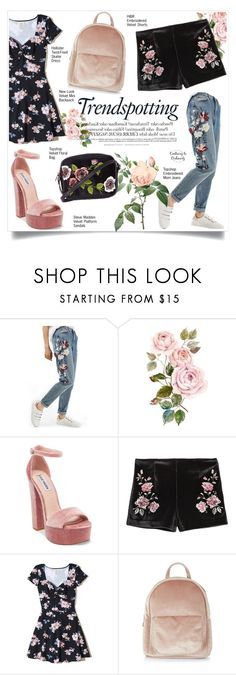 """Untitled #1630"" by contrary-to-ordinary ❤ liked on Polyvore featuring Topshop, Melissa, Steve Madden, Hollister Co. and New Look"