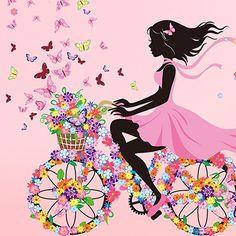 Oyedens Mädchen Schmetterling Blumen-Fee Aufkleber Schlafzimmer Wohnzimmer…