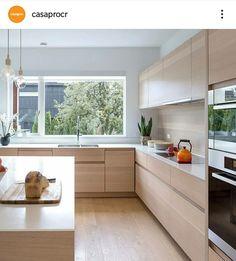 Kitchen Room Design, Home Room Design, Modern Kitchen Design, Kitchen Layout, Home Decor Kitchen, Interior Design Kitchen, Kitchen Furniture, New Kitchen, Home Kitchens