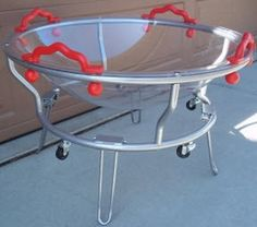 The Round Sensory Tub w/ Casters can be used for a multitude of items to help with sensory play and or just for fun!  http://www.sensoryedge.com/round-sensory-tub-casters.html