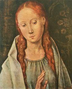 c6c51af84eb1a Memling Half Figure of The Virgin Unique Old Religious Fine Art Card or  Framed Miniature