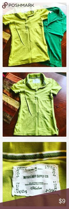 Lot 2 Polos Adorable and fun, brightly colored Polos! Size M Mossimo Supply Co. Tops