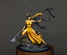Misaki was painted for Wyrd Femme Fatale contest but win nothing.