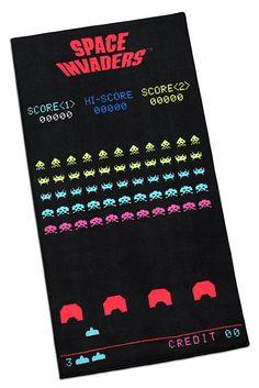 Space Invaders Game Screenshot Printed Rug
