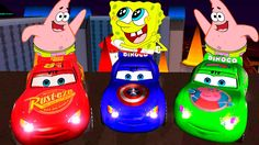 Wheels on The Bus - Learn Numbers COLORS SPONGEBOB Mcqueen Cars for Kids...
