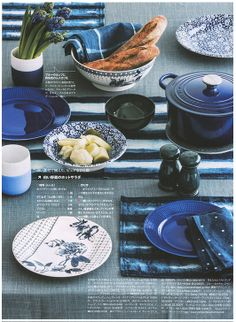 Growing Indigo inside Elle à table Japan this month. Agriculture, A Table, Indigo, Plates, Tableware, Projects, Licence Plates, Log Projects, Dishes