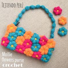 Crochet Mollie flowers purse tutorial!