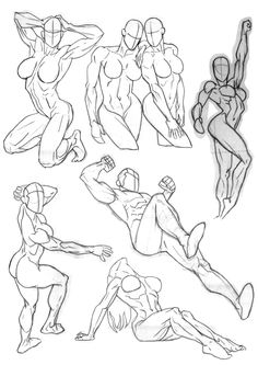 Drawing Woman What can I say? More strange angles and poses and more sexy women (well, mostly). Again, a number of doodles and practices from my sketchbook that I've scanned in and laid out in PS. Anatomy Drawing, Anatomy Art, Anatomy Sketches, Art Drawings Sketches, Cartoon Drawings, Comic Drawing, Human Anatomy, Body Reference Drawing, Drawing Reference Poses