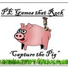 "This lesson plan is for a large group physical education class game called ""Capture the Pig"""