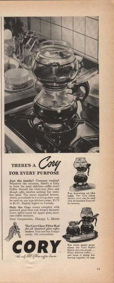 Cory All Glass Coffee Brewer (1946)