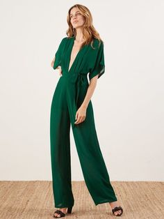 662c73f78f3 Reformation Lemongrass Jumpsuit in Emerald Size 4 Brand New with Tags   fashion  clothing