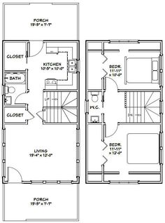 Tiny Houses Pdf Floor Plans Excellentfloorplans House Pinterest