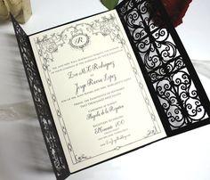 Laser-cut invitation wrap