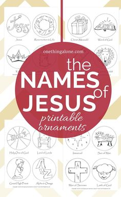 FREE Names of Jesus Printable Ornaments What a great idea! Coloring ornaments to help children learn about the names of Jesus as they prepare to celebrate His coming! Christmas Activities, Christmas Traditions, Kids Christmas, Christmas Ornament, Christmas Bible, Christian Christmas Crafts, Christmas Candles, Christmas Games, Modern Christmas