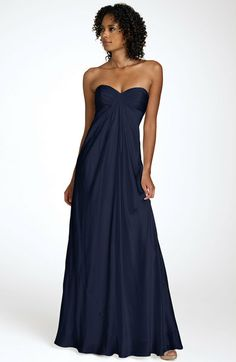 Laundry by Shelli Segal- Sweetheart Strapless Charmeuse Gown bridesmaid dresses