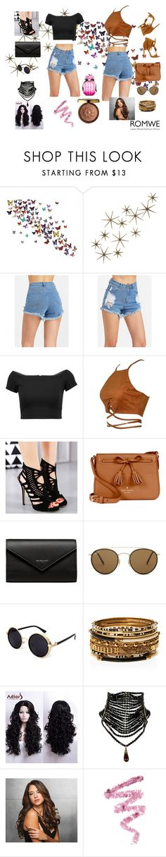 """""""Romwe"""" by bosniamode ❤ liked on Polyvore featuring Global Views, Alice + Olivia, Kate Spade, Balenciaga, Ray-Ban, Amrita Singh, Ken Paves, Cynthia Rowley, Physicians Formula and Victoria's Secret"""