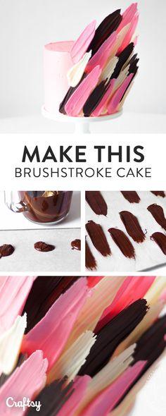 Weve been spotting these fun, quirky brushstroke cake designs around for a short while — and how awesome are they!? If you want to learn to recreate the latest cake craze, read on to learn how to make your own brushstroke cake — its way easier than you may think! #cool_cake_decor