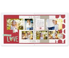 Just two of the 6 beautiful pages you can create using CTMH's Workshop Your Way kit.  Fast, fun, done!