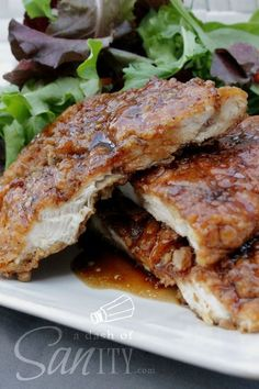 This was my first huge Pinterest success! And it is still my favorite to this very day. I love to serve this chicken only with a salad of arugula, spinach and mix green salad to counter the sweetness of the chicken. Carrots are also a nice addition. You don't even need dressing! Just drizzle some …